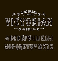 set of victorian style alphabet letters font vector image