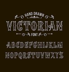 Set victorian style alphabet letters font vector
