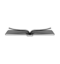 Sketch silhouette image top view open book vector