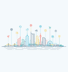smart city connection concept futuristic tech vector image