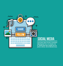 social media technological vector image