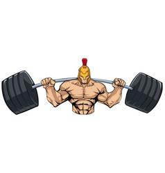 spartan gym mascot grit vector image