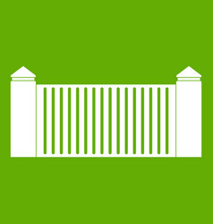 stone fence icon green vector image