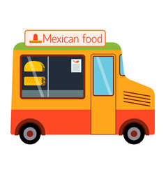 Street food festival mexican trailer vector