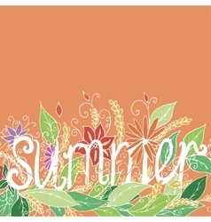 Summer lettering on chalkboard background vector image