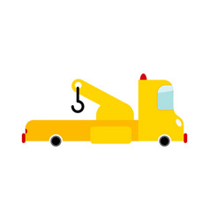 Tow truck isolated transport on white background vector