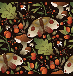trendy forest mushroom pattern vector image