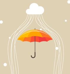Umbrella and cloud vector image