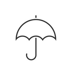 umbrella line icon on a white background vector image