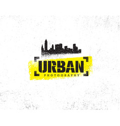 Urban hipster photography contest rough rustic vector