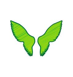 wings sign lemon scribble vector image