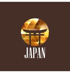 with diamond japan gate vector image
