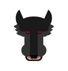 Wolf face isolated predator beast muzzle head vector