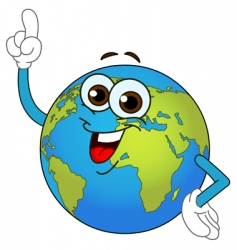 world globe cartoon vector image
