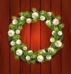 Christmas Wreath with Balls vector image vector image
