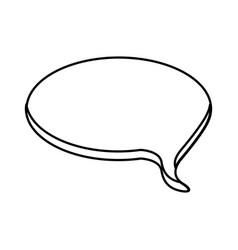 contour round chat bubble icon vector image vector image