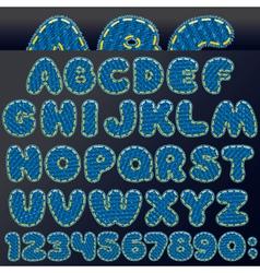 Denim Patch Font vector image vector image