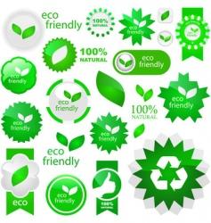 eco friendly elements vector image