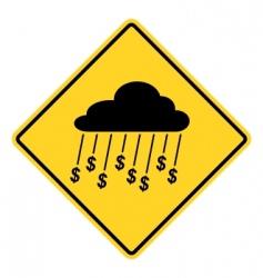 rain of money sign vector image vector image