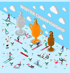 winter games championship composition vector image vector image