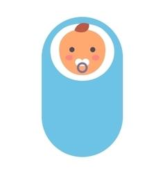 Baby kid in diaper vector image
