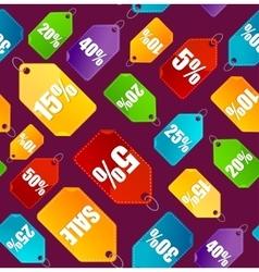Color Sale Labels Background Pattern vector image vector image