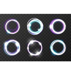 Explosion burst rings Cosmic vortex holes vector image