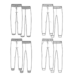Girls trousers vector image vector image