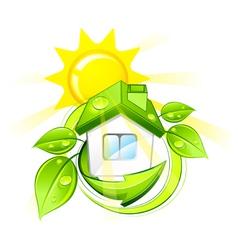 green eco home vector image vector image