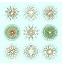 Round ornament set Circle ornament vector image vector image