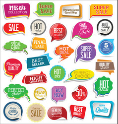 sale stickers modern design collection 2 vector image vector image