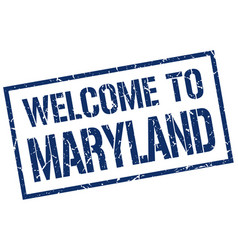 welcome to maryland stamp vector image vector image