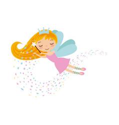 Cute little fairy character vector