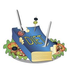 Diet book vector image
