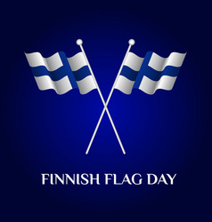 finnish flag day vector image