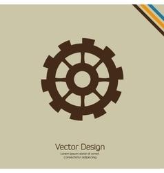 Gear icon design vector image