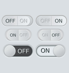 on and off toggle switch buttons black and white vector image vector image