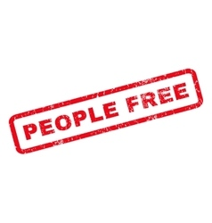 People Free Rubber Stamp vector image vector image