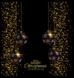 premium christmas holiday background with glitter vector image vector image