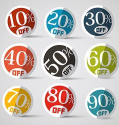 Discount Circle Labels vector image