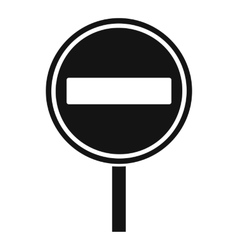 No entry sign icon simple style vector image vector image
