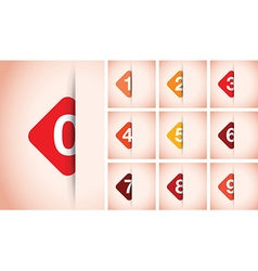 red option square background vector image vector image