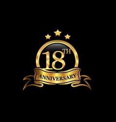 18 year anniversary celebration anniversary vector