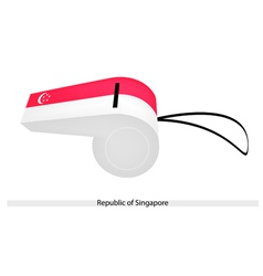 A Whistle of The Republic of Singapore vector image