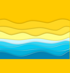 Abstract blue sea and beach vector