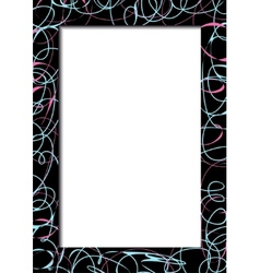Abstract dark frame with scribbles vector
