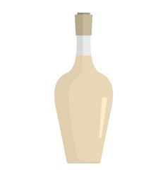 alcoholic bottle icon flat style vector image