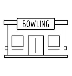 bowling house icon outline style vector image