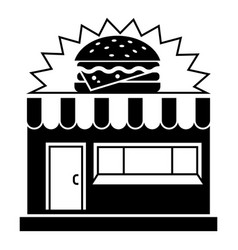 Burger street shop icon simple style vector