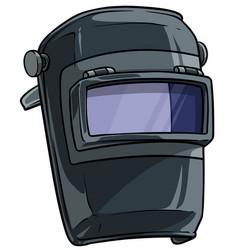 Cartoon welding mask with clear glass visor vector